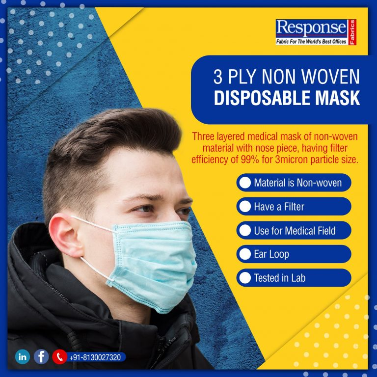 3 ply non-woven face mask manufacturers