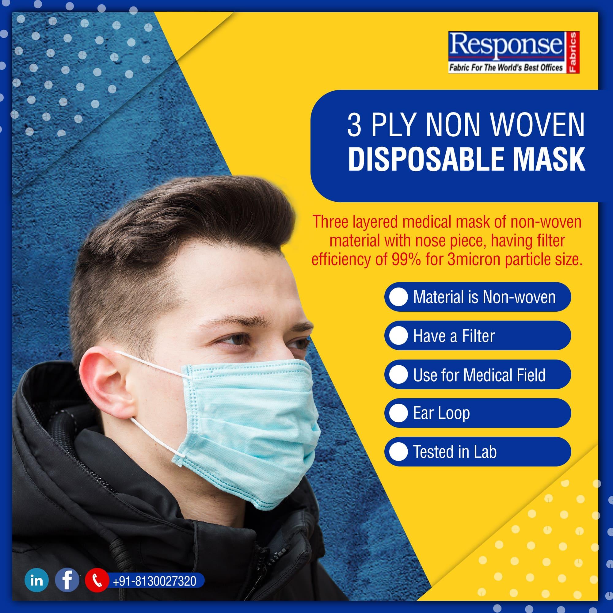 3 ply non-woven mask