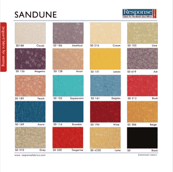 Sandune range fabric